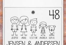 Photo of Fede postkasse stickers til hjemmet her